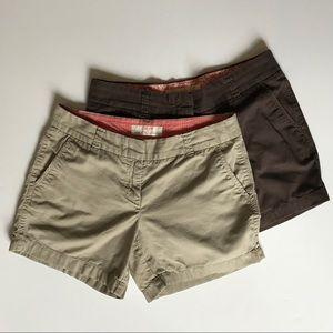 Bundle of 2 - J.Crew Chino Shorts Sz 2